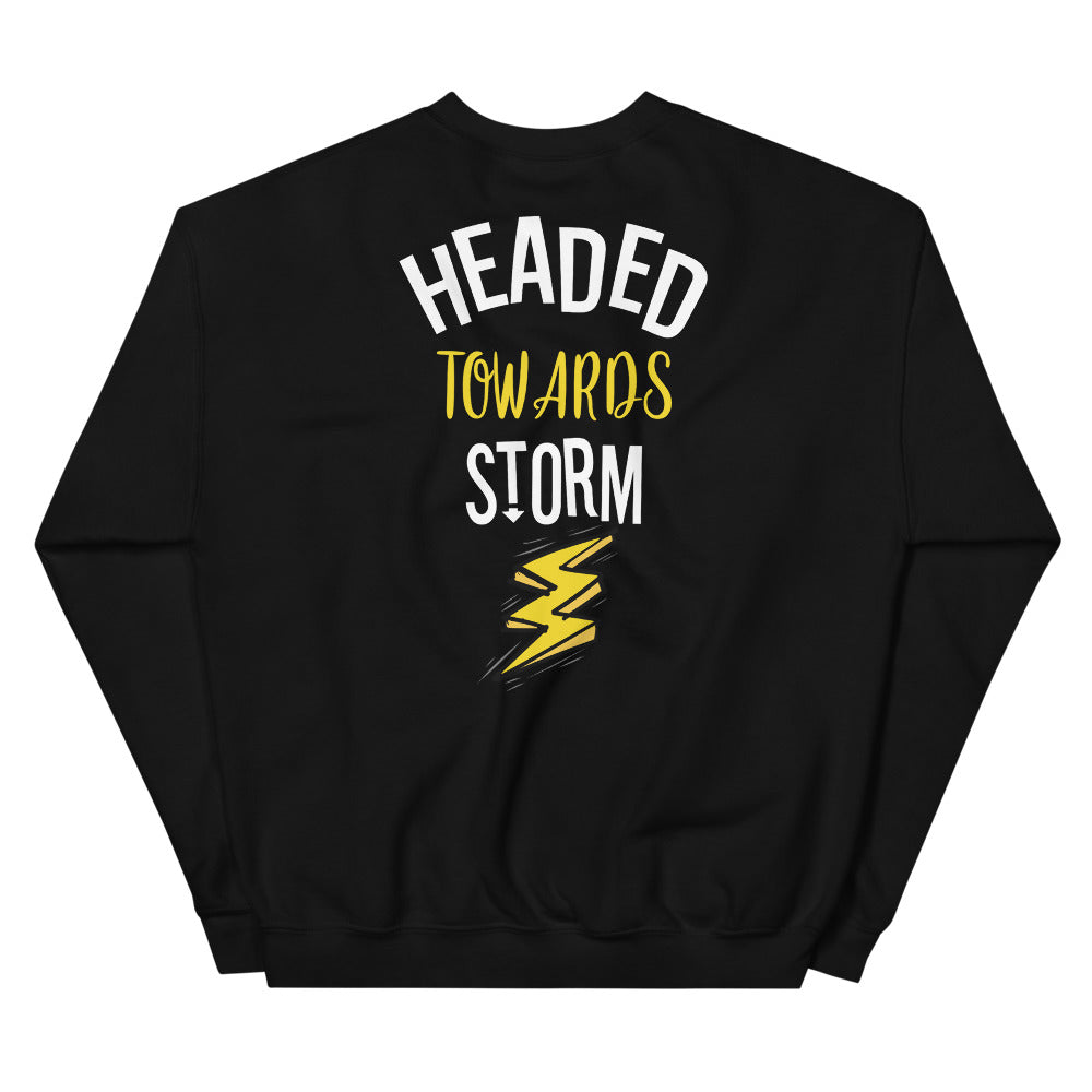 Headed Towards Storm Sweatshirt in Black for Women