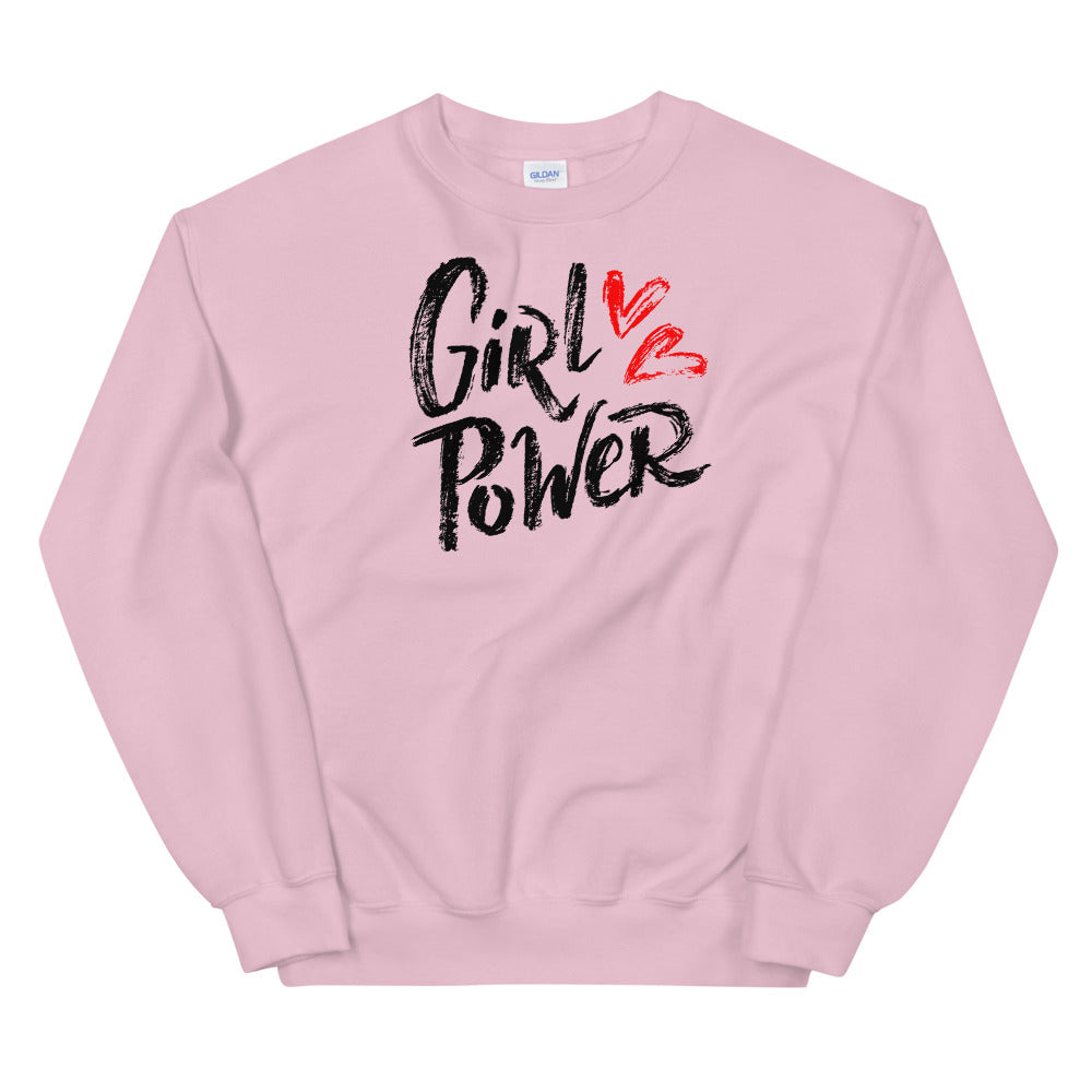 Girl Power Sweatshirt | Pink Women Empowerment Sweatshirt