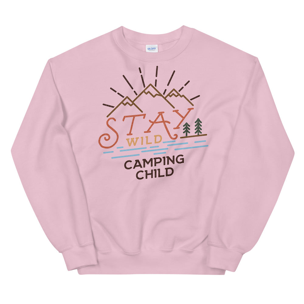 Stay Wild Camping Child Crewneck Sweatshirt for Women