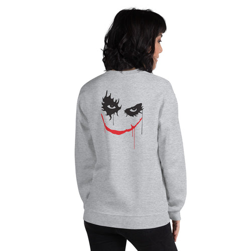 Clown Sweatshirt | Grey Back Print Twisty the Clown Sweatshirt