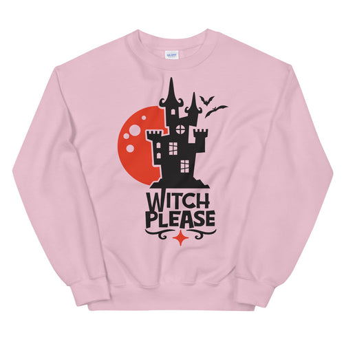 Witch Please Halloween Crewneck Sweatshirt for Women