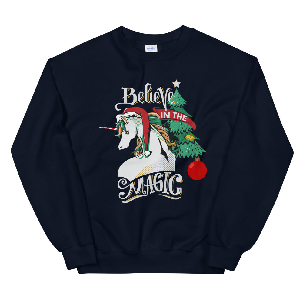 Believe in The Magic Christmas Crewneck Sweatshirt for Women