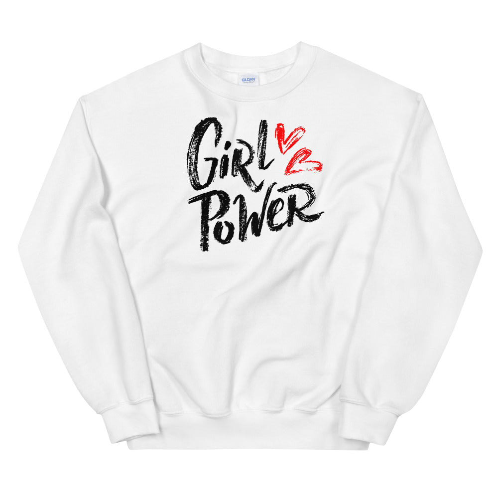 Girl Power Sweatshirt | White Women Empowerment Sweatshirt
