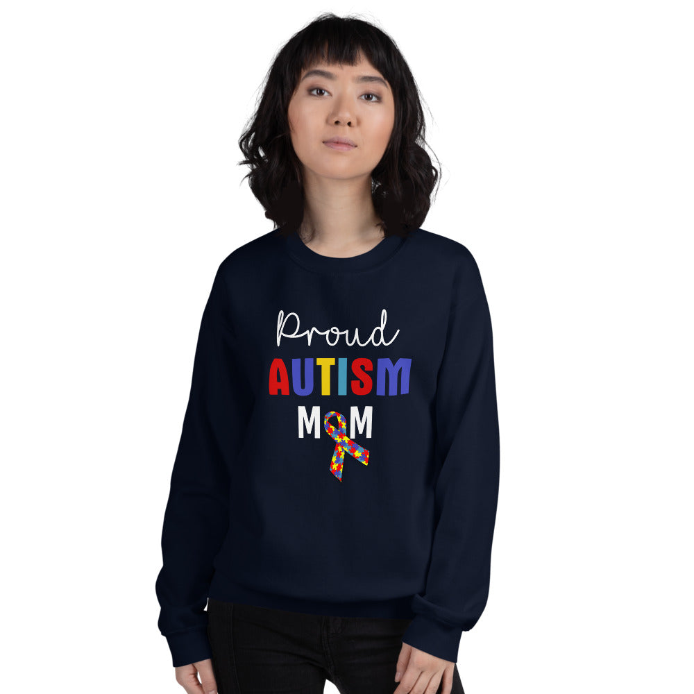 Proud Autism Mom Sweatshirt | Navy Proud Autism Mom Sweatshirt