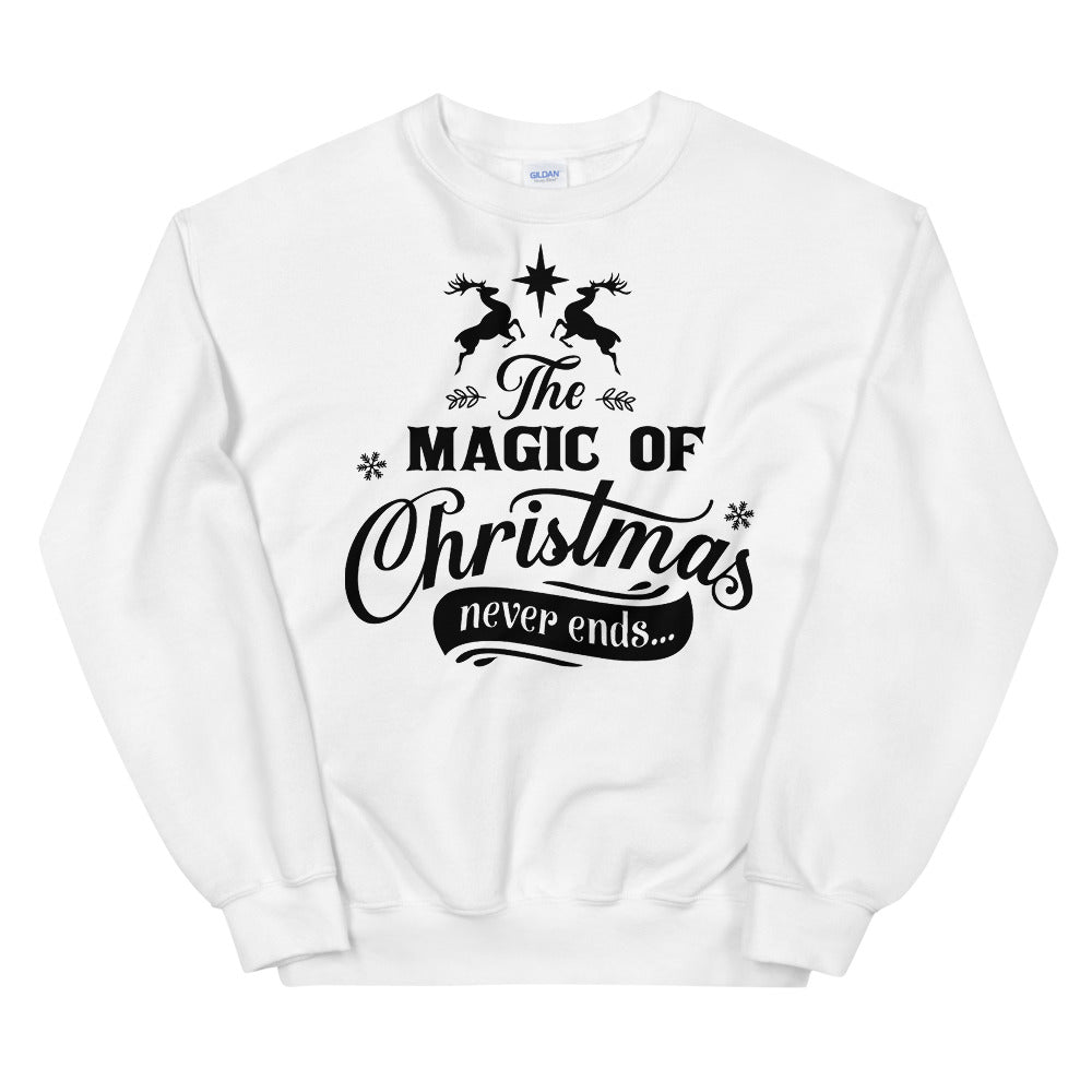 The Magic of Christmas Never Ends Sweatshirt for Women
