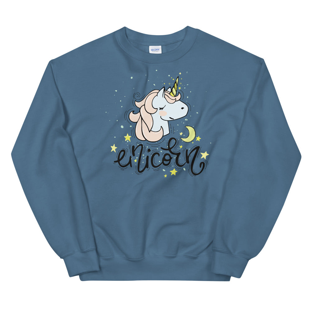 Unicorn Face Sweatshirt | Little Unicorn Face Sweatshirt for Ladies
