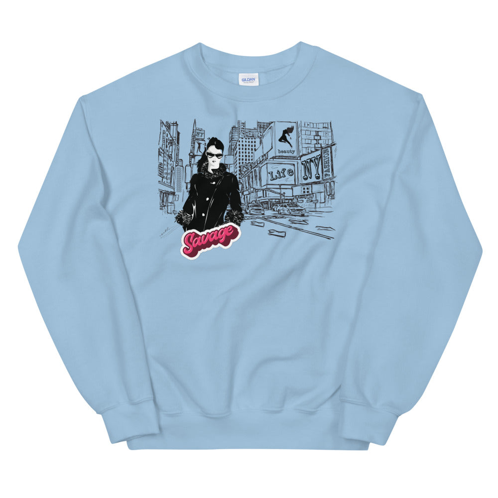 Fashion Savage New York City Crewneck Sweatshirt for women