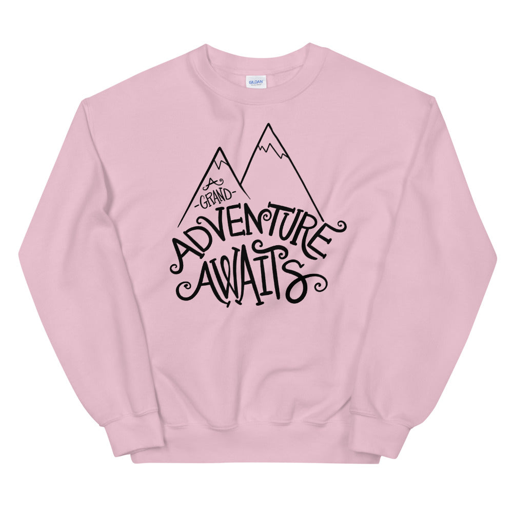 A Grand Adventure Awaits Sweatshirt | Pink Crewneck Sweatshirt for Women