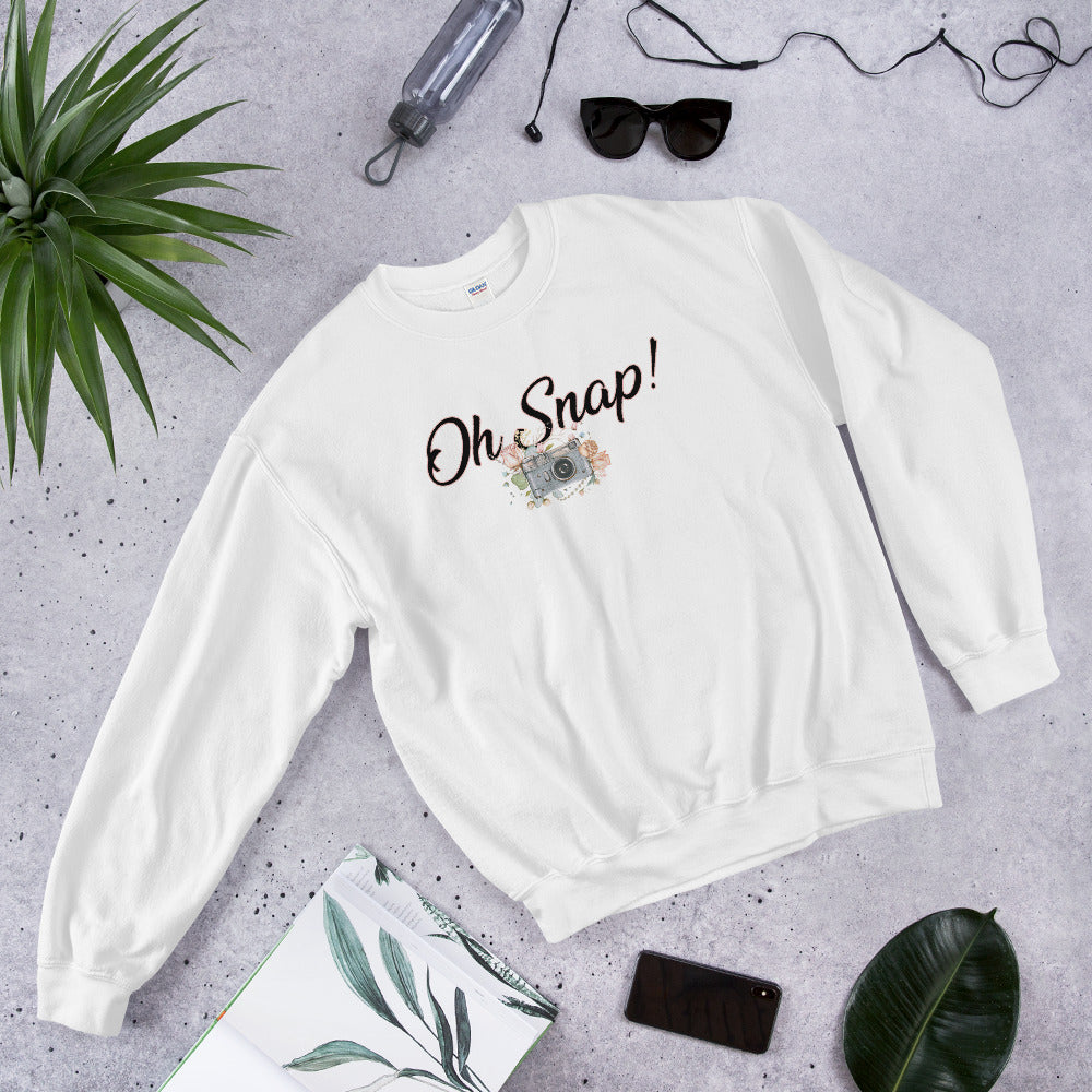 Oh Snap Sweatshirt | Funny Oh Snap! Meme Crewneck for Women