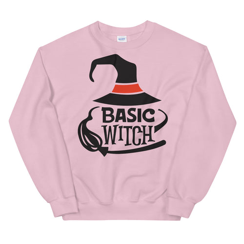 Basic Witch Halloween Crewneck Sweatshirt for Women