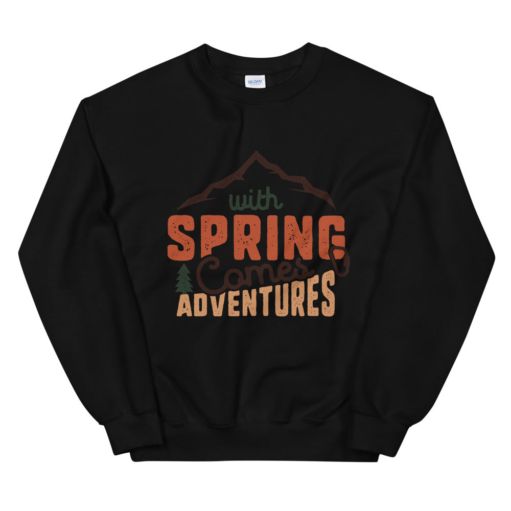 With Spring Comes Adventures Crewneck Sweatshirt for Women