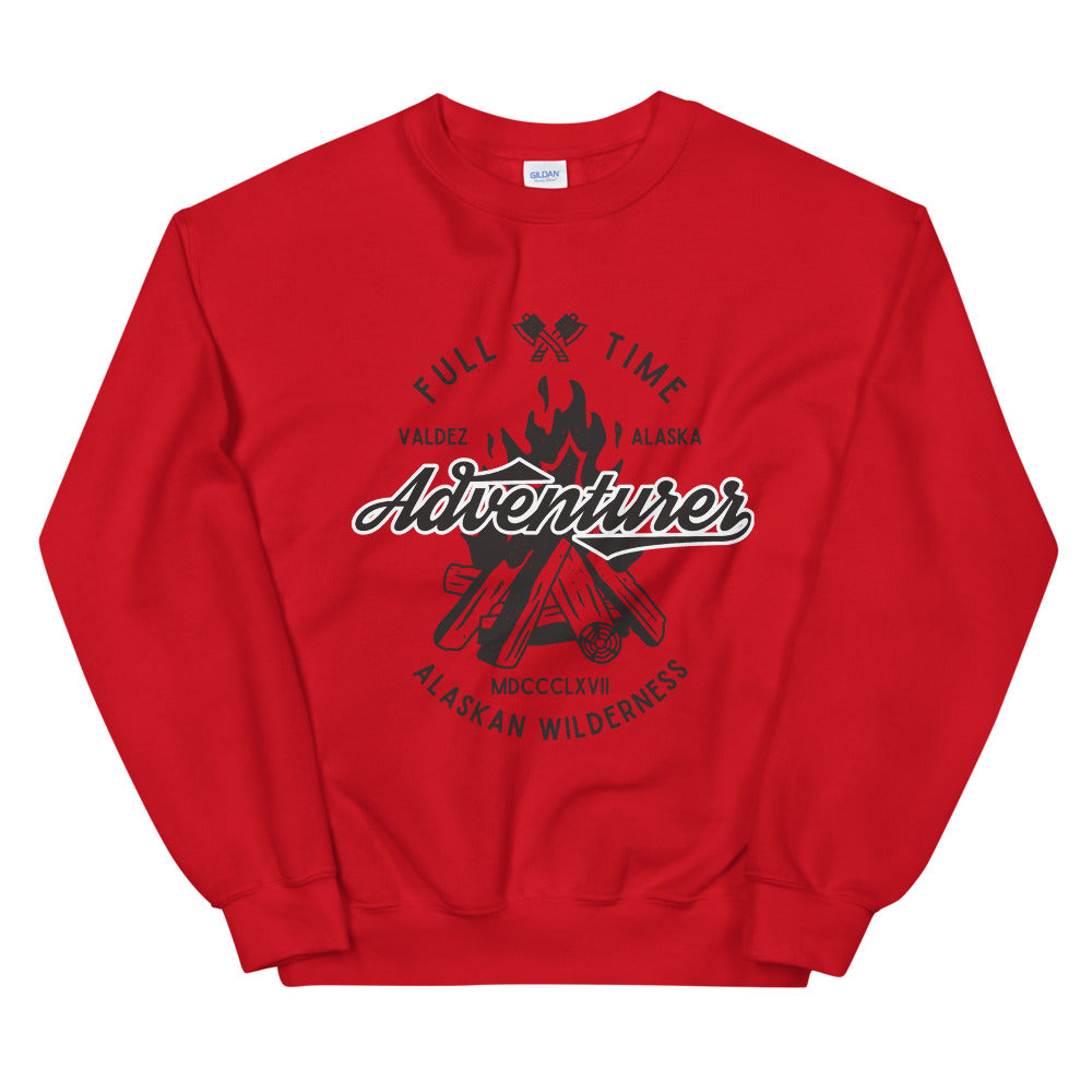 Alaskan Wilderness Full Time Adventure Crewneck Sweatshirt