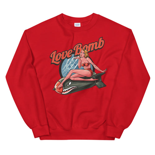 Love Bomb Sweatshirt | Red Vintage Love Bomb Sweatshirt