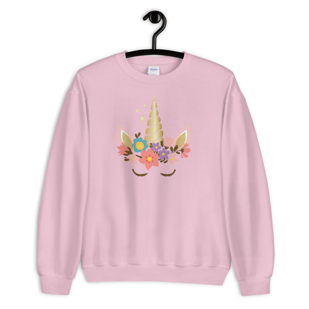 Unicorn Sweatshirt | Pink Cute Unicorn Sweatshirt for Women