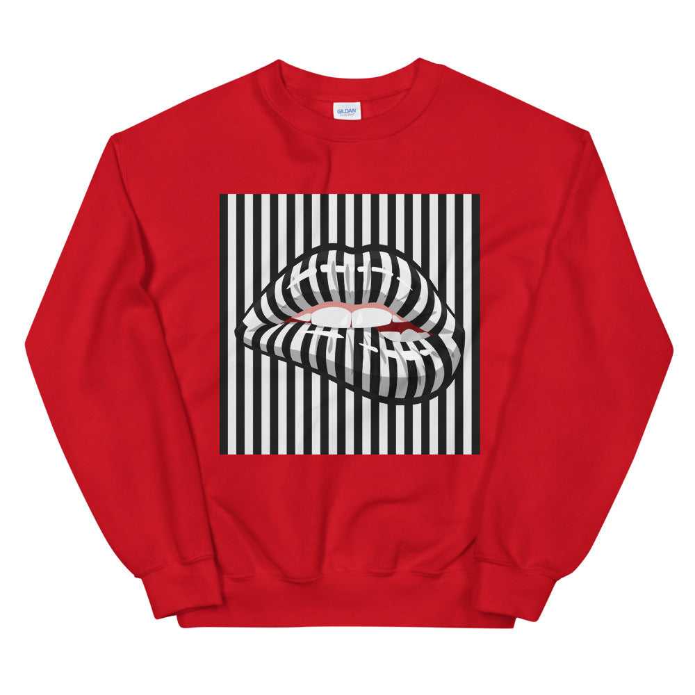 Barcode Black and White Stripe Line Crewneck Sweatshirt