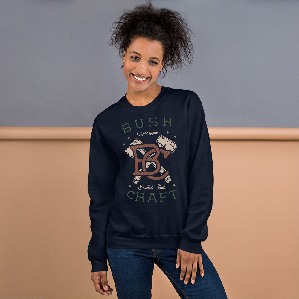 Bush Craft Survival Skills Crewneck Sweatshirt for Women