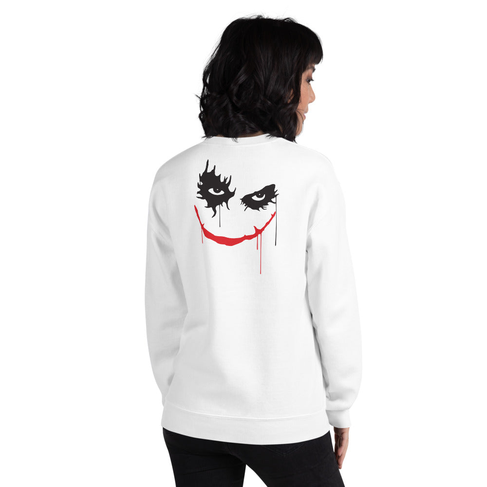 Clown Sweatshirt | White Back Print Twisty the Clown Sweatshirt