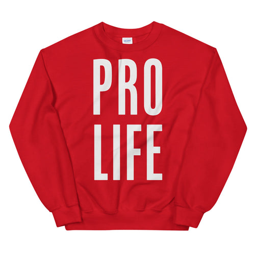 Pro Life Sweatshirt | Red Pro Life Sweatshirt for Women
