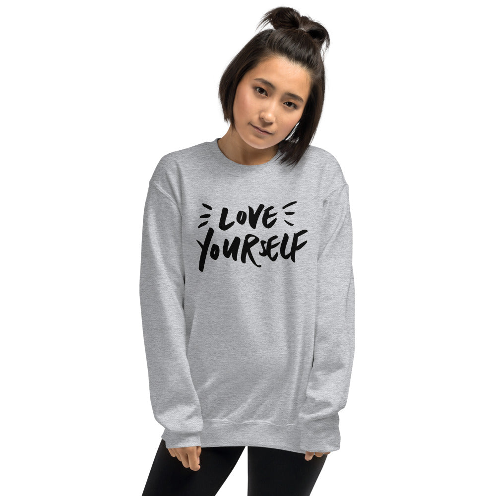 Love Yourself Sweatshirt | Grey Love Yourself for Women