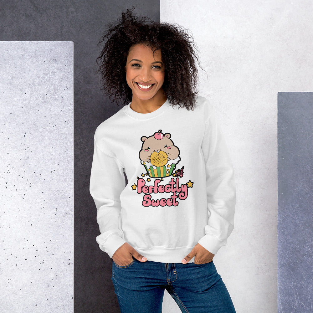Cute Perfectly Sweet Kawaii Hamster Crewneck Sweatshirt
