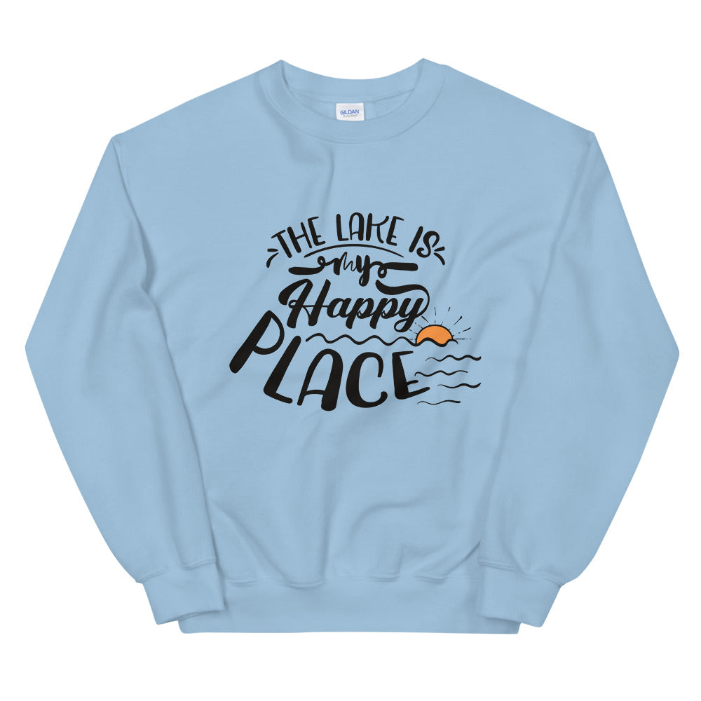 The Lake is My Happy Place Crewneck Sweatshirt