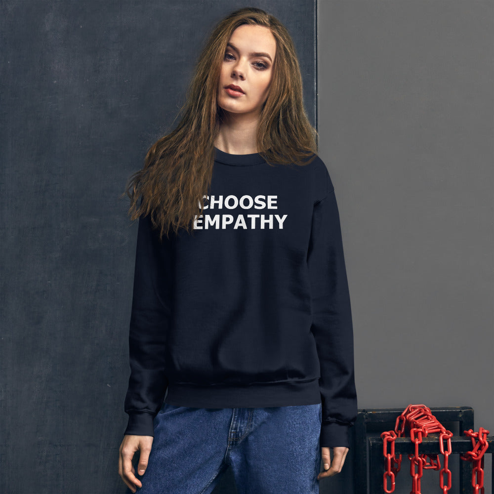 Choose Empathy Sweatshirt | Navy Crewneck Motivational Sweatshirt for Women