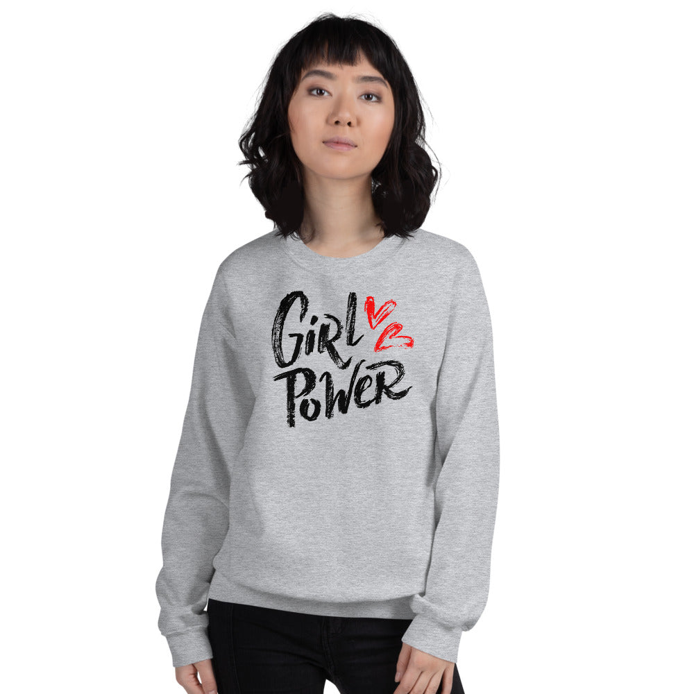 Girl Power Sweatshirt | Grey Women Empowerment Sweatshirt