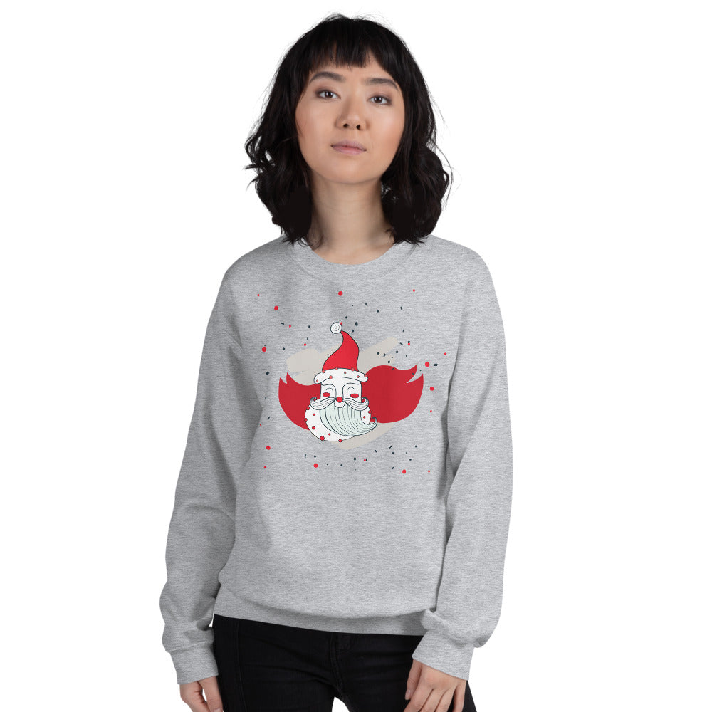 Santa Sweatshirt | Christmas Santa Crewneck for women