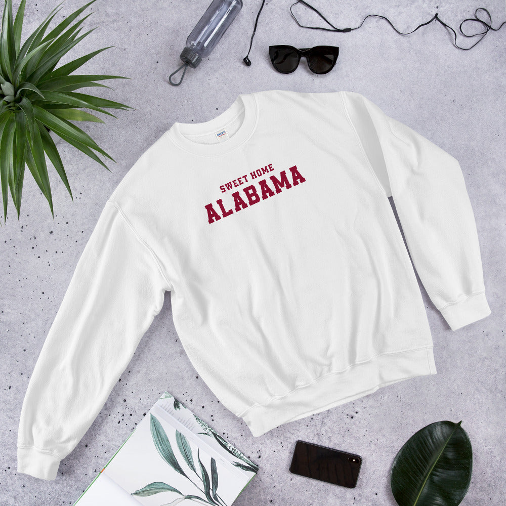Sweet Home Alabama Sweatshirt | White Alabama State Sweatshirt for Women