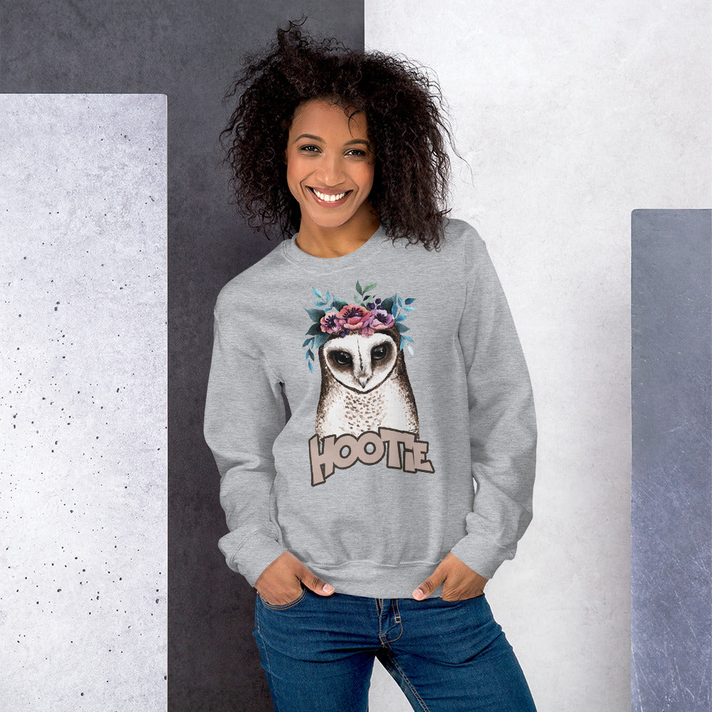Hootie Sweatshirt | Grey Owl Hootie Sweatshirt for Women