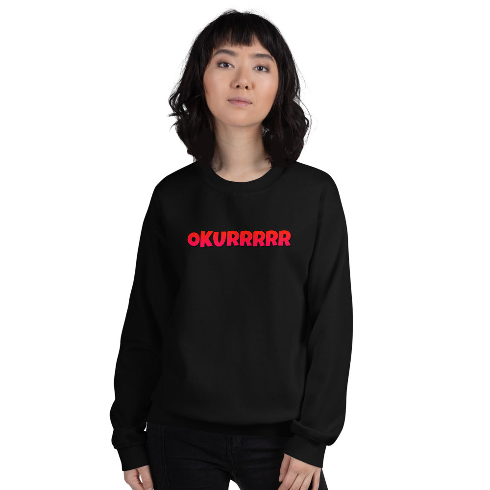 Okurrr Cardi B Meme Sweatshirt | Black Okurrr Sweatshirt for Women