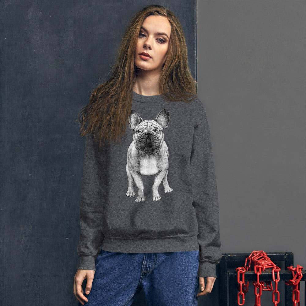 French Bulldog Crewneck Sweatshirt for Women