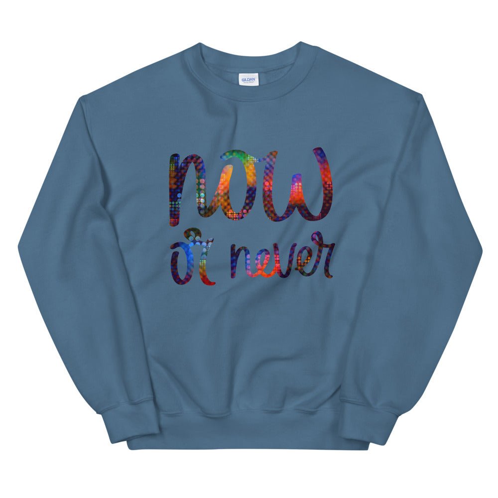 Now or Never Crewneck Sweatshirt for Women
