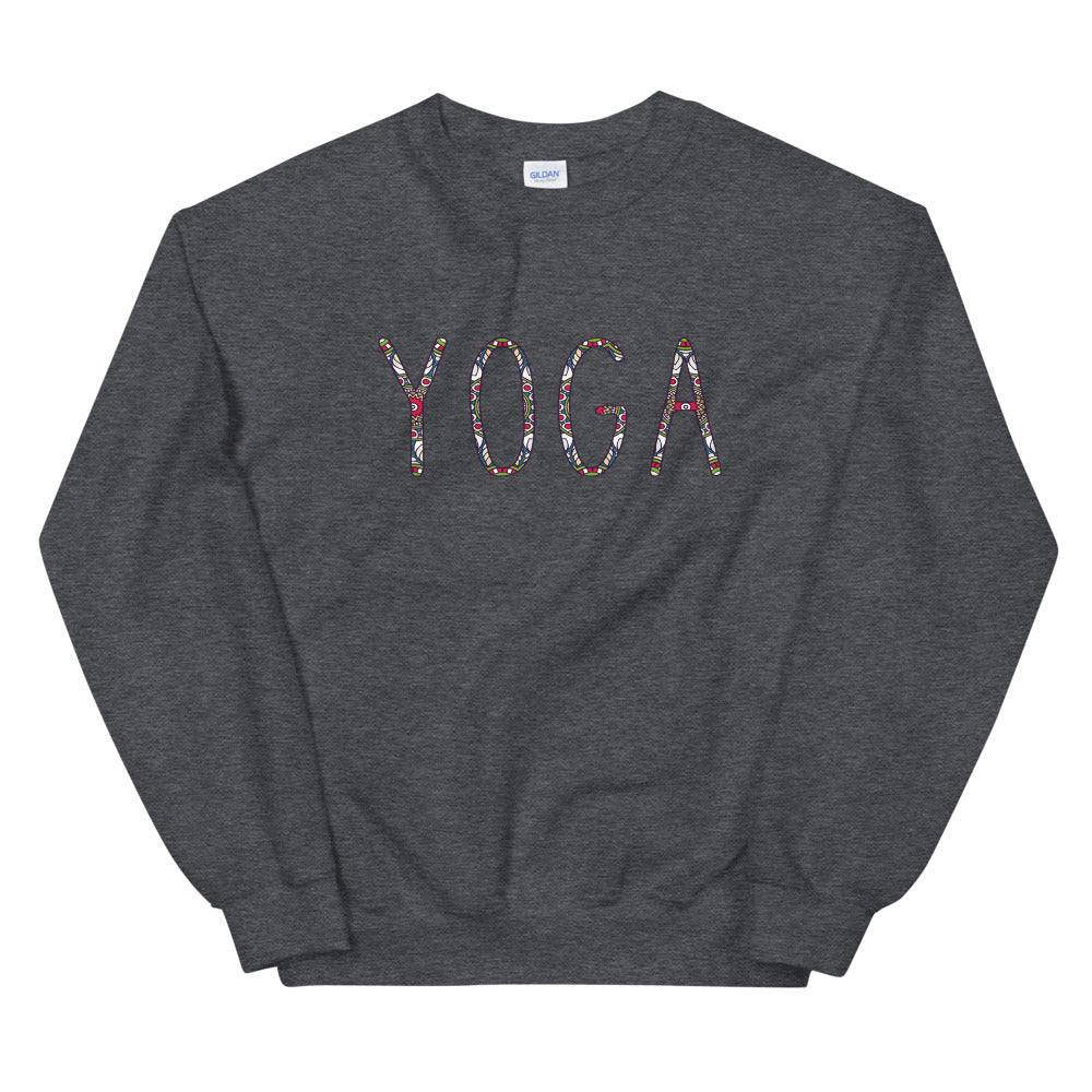 Minimal Yoga Text Crewneck  Sweatshirt for Women