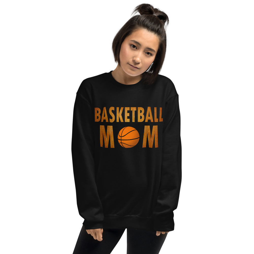 Basketball Mom Meme Crewneck Sweatshirt for Mothers