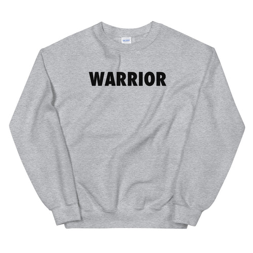 Warrior Sweatshirt | Grey One word Sweatshirt for Women