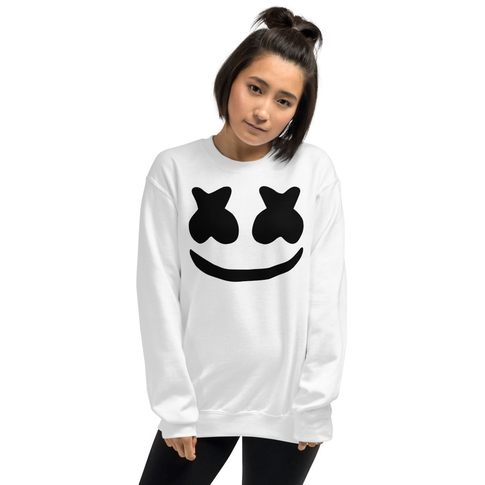 Dj Marshmello Sweatshirt - White Marshmello Sweatshirt for Women
