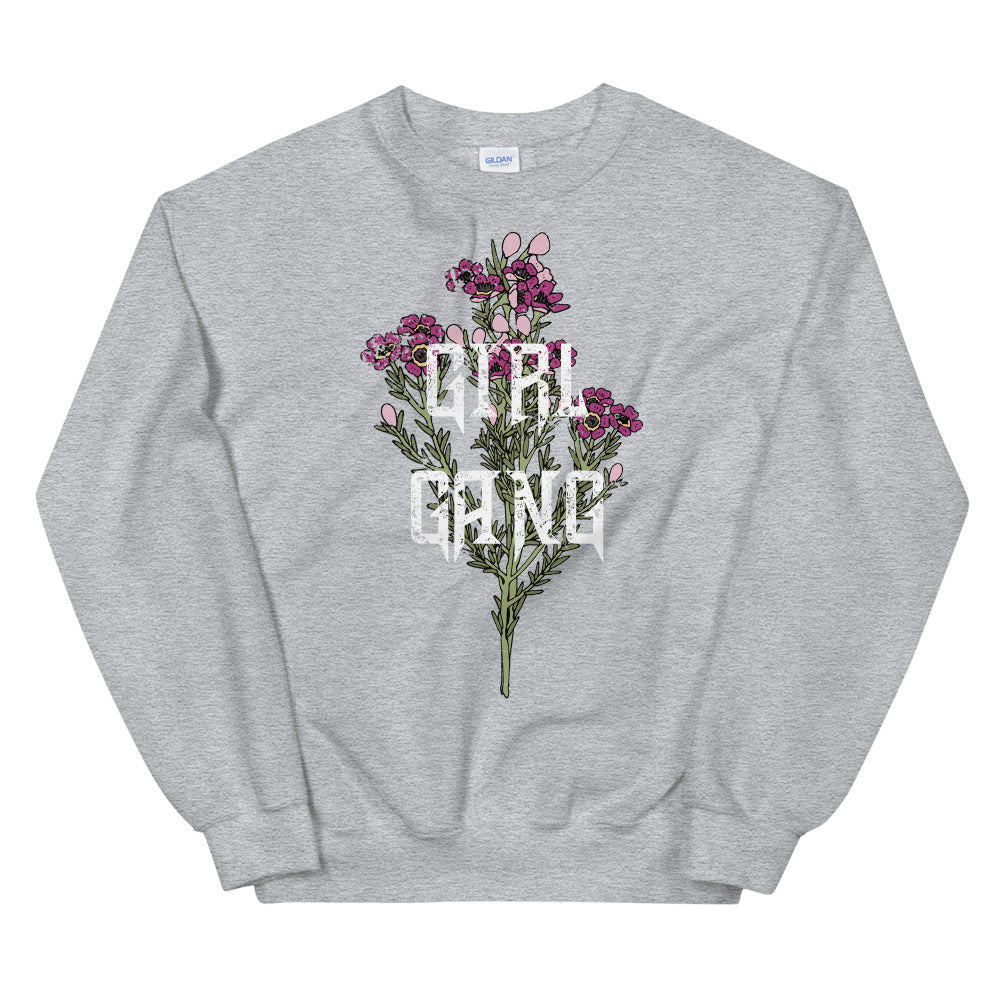 Girl Gang Flower Crewneck Sweatshirt for Women