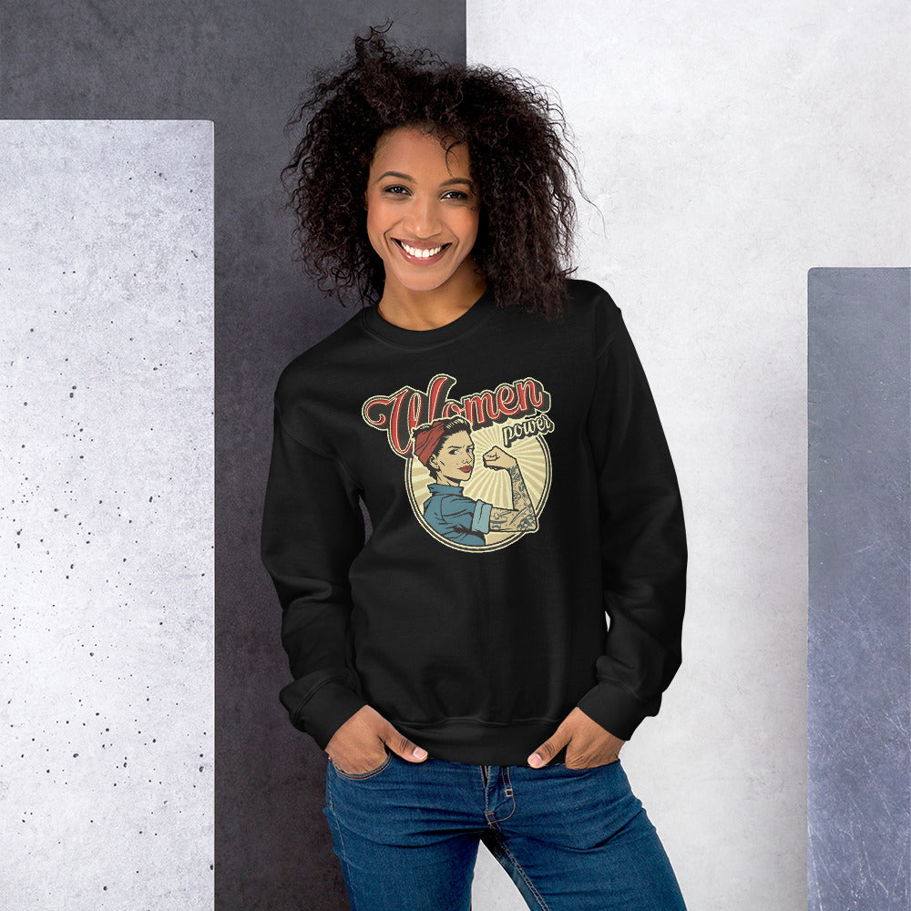 Vintage Women Power Sweatshirt | Black Woman Power Sweatshirt