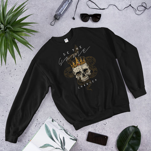 Be the Game Changer Crowned Skull & Snake Crewneck Sweatshirt