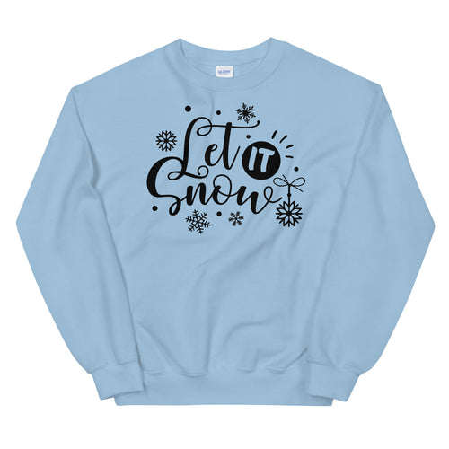 Let it Snow Christmas Song Pullover Crewneck Sweatshirt