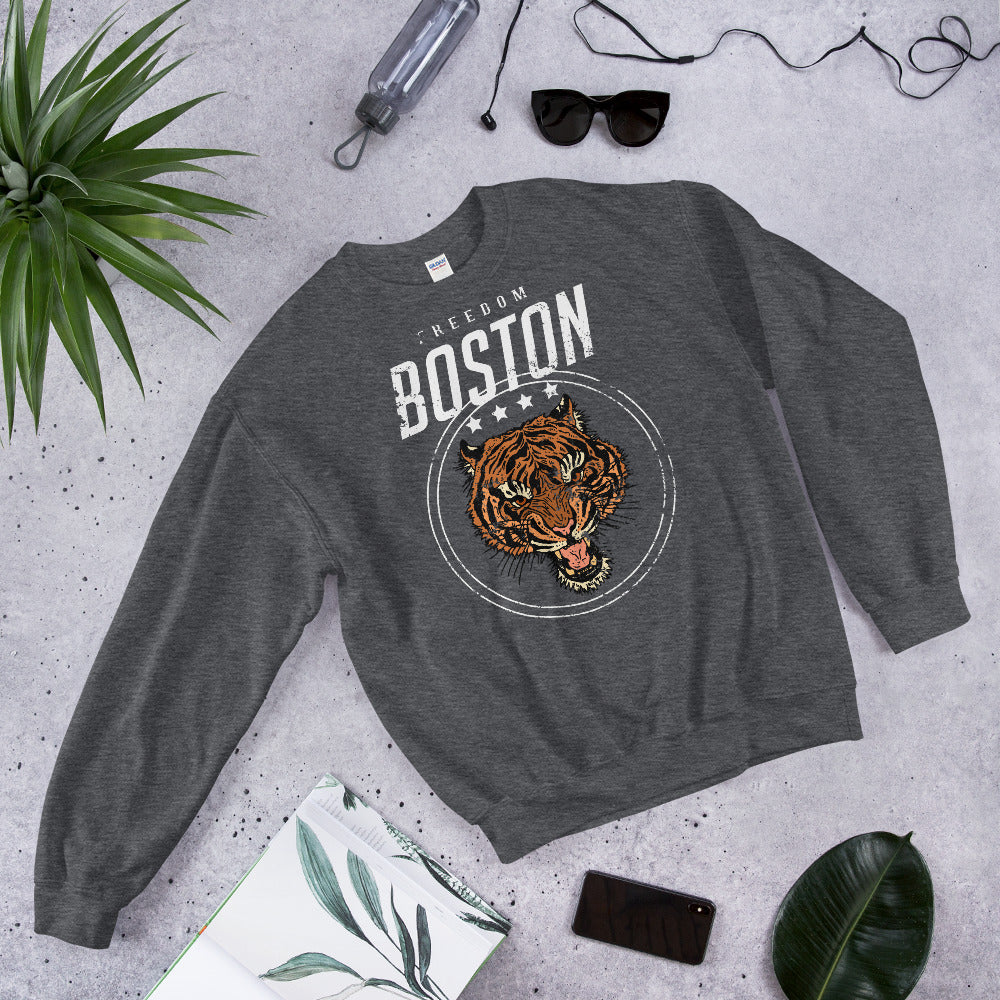 Boston Tiger Freedom Crewneck Sweatshirt for Women