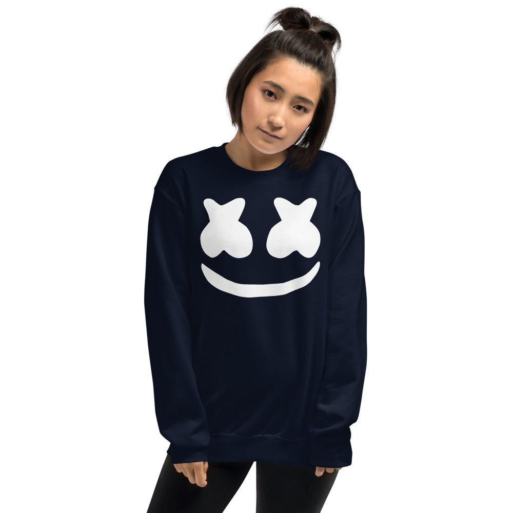Dj Marshmello Sweatshirt - Navy Marshmello Sweatshirt for Women