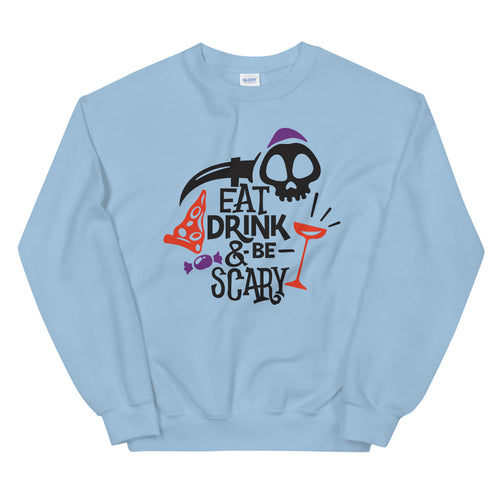 Eat Drink and Be Scary Halloween Crewneck Sweatshirt