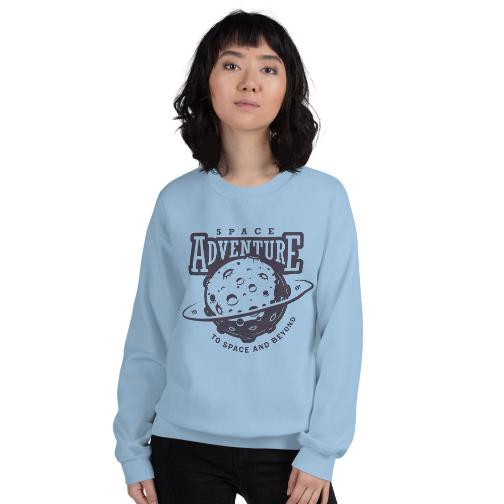 Space Adventure: To Space and Beyond Asteroids Crewneck Sweatshirt