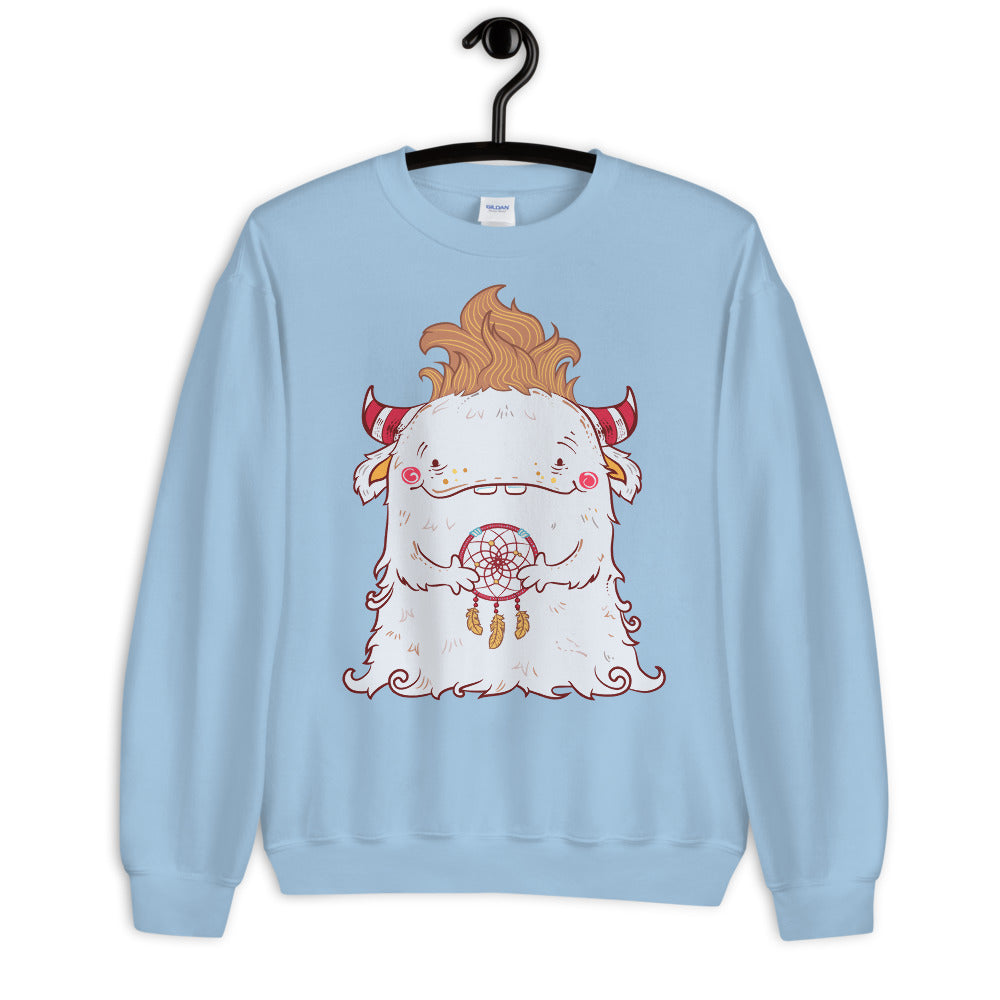 Dreamcatcher Monster Crewneck Sweatshirt for Women