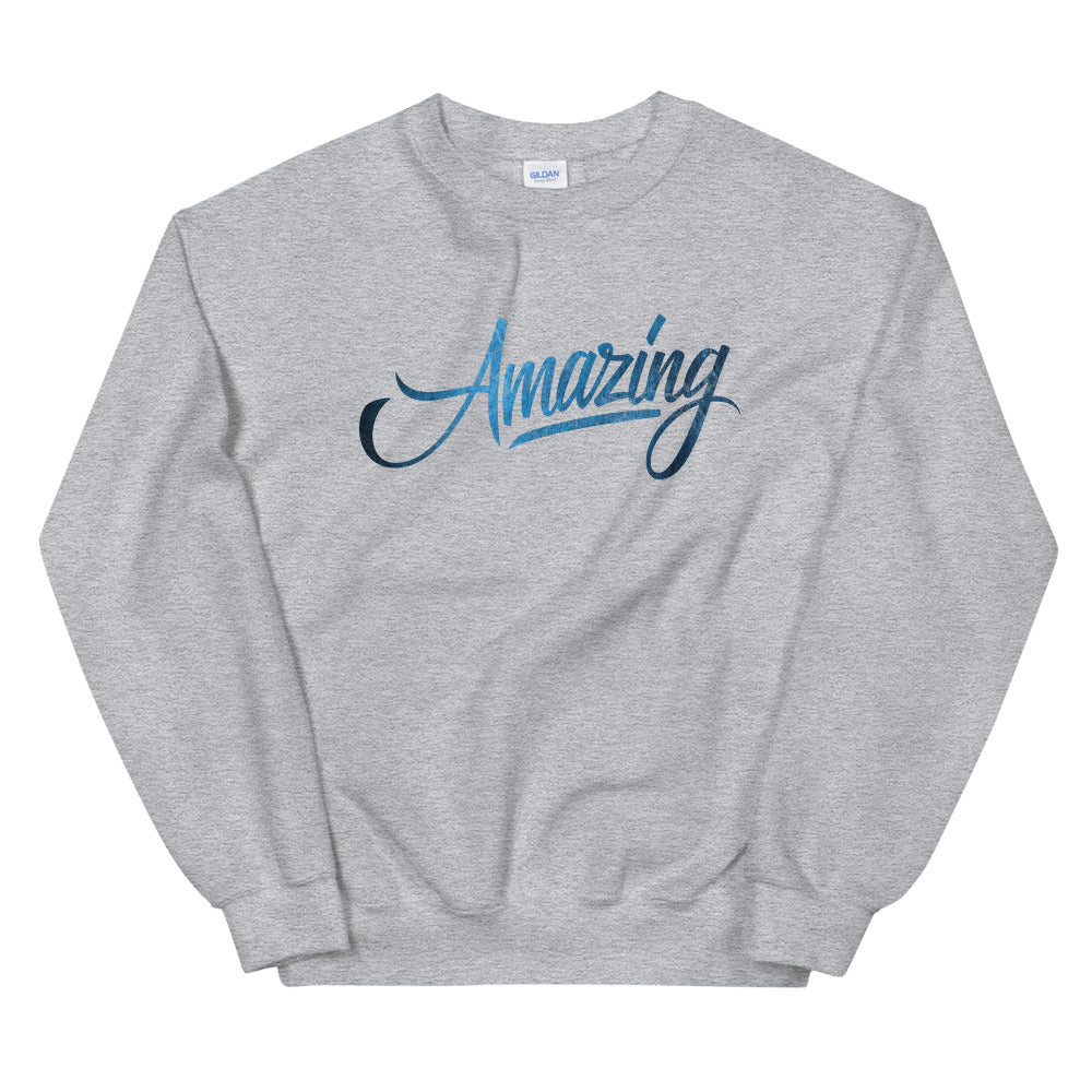Amazing One Word Crewneck Sweatshirt for Women