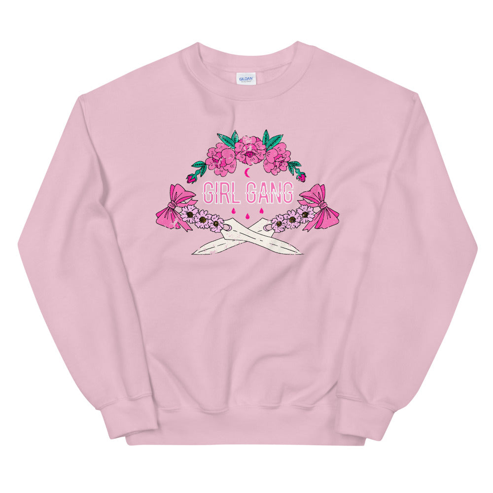 Girl Gang Daggers College Crewneck Sweatshirt for Women