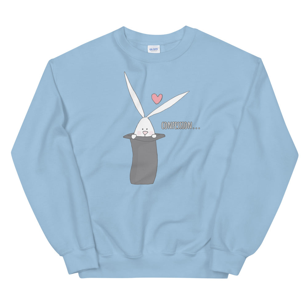Cute Bunny Heart Confession Crewneck Sweatshirt