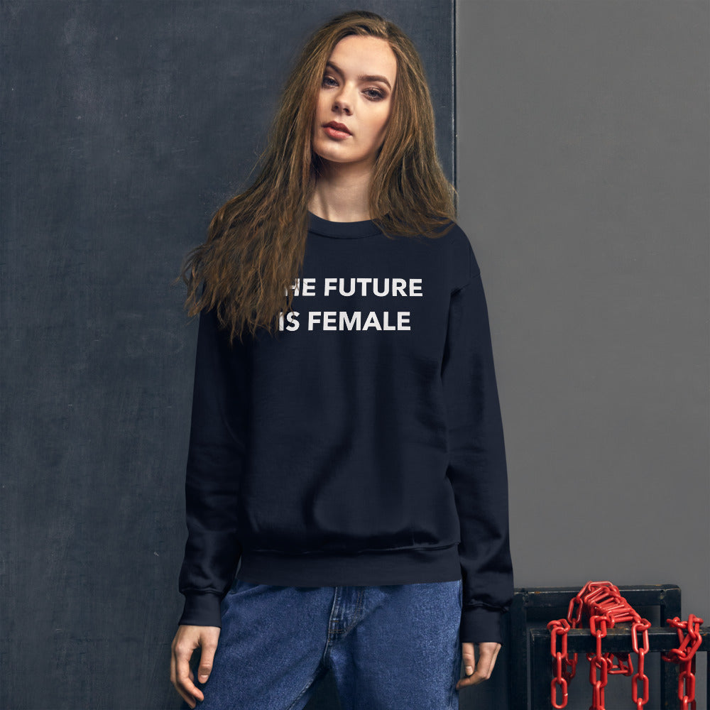 The Future is Female Sweatshirt | Navy Crewneck Women Empowerment Sweatshirt